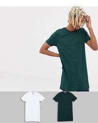 ASOS DESIGN Super Longline T Shirt 2 Pack Save