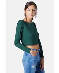 Dark Green Cropped Sweaters for Women   Women's Fashion