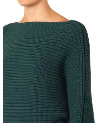 Alexander Wang Tubular Knit Wool Cropped Sweater | Where to buy ...