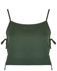 Topshop Tie Side Cropped Camisole Top