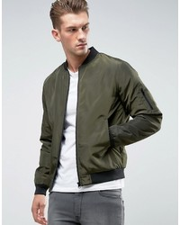 ONLY & SONS Paded Bomber Jacket With Ma 1 Pocket