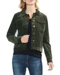 How To Wear A Dark Green Denim Jacket 4 Looks Outfits Women S