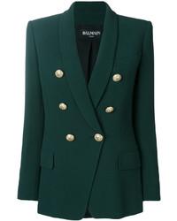 fd1c93a963c Balmain Double Breasted Crepe Blazer Green Out of stock · Balmain Button  Embellished Blazer
