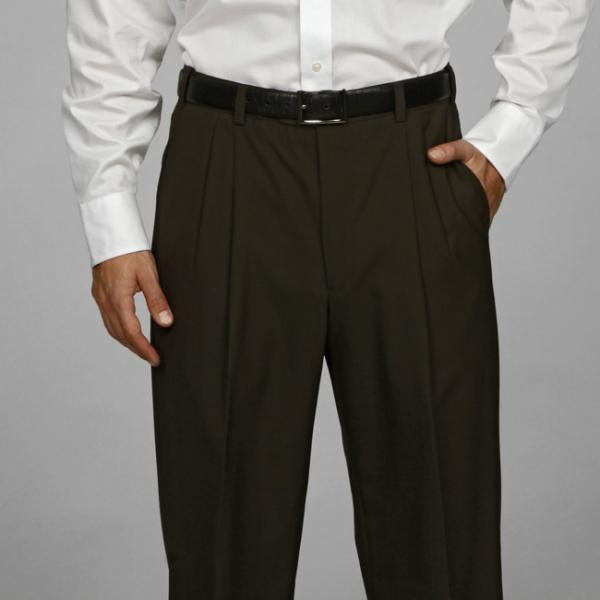 Austin Reed Pleated Olive Washable Reflex Dress Pants | Where to ...