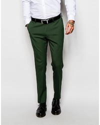 Asos Brand Skinny Suit Pants In Green