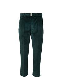 Officine Generale Dark Green Owen Tapered Cotton Corduroy Suit Trousers