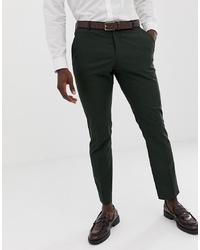 Selected Homme Dark Green Suit Trouser In Slim Fit