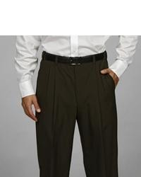 Austin Reed Pleated Olive Washable Reflex Dress Pants