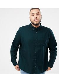 Burton Menswear Big Tall Oxford Shirt In Green