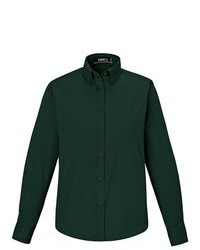 North End Core 365 Operate Forest Green Long Sleeve Twill Button Down Shirt Blouse