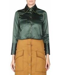 Rabecca cropped satin blouse medium 6990519