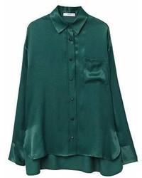 Satin finish flowy shirt medium 6990500