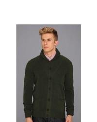 Ben Sherman High Shawl Collar Cardigan Sweater Pirate Green