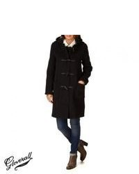 Gloverall original slim long duffle coat black medium 41318