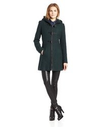 Jessica simpson basketweave wool coat with toggles medium 25361