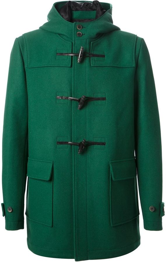 Dark Green Duffle Coat Sm Coats