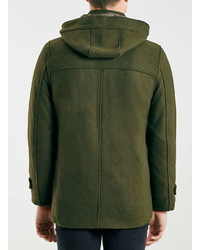 Topman Only And Sons Green Duffle Coat | Where to buy & how to wear