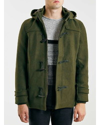 Topman Only And Sons Green Duffle Coat