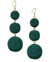 Kenneth Jay Lane Carnival Triple Drop Earringsgreen