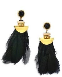 Lizzie Fortunato Eagle Feather Fringe Earrings