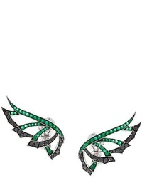 Stephen Webster Magnipheasand Diamond And Emerald Earrings