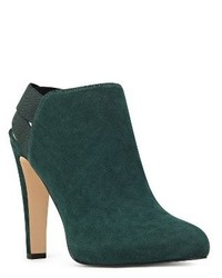 Dark Green Elastic Ankle Boots
