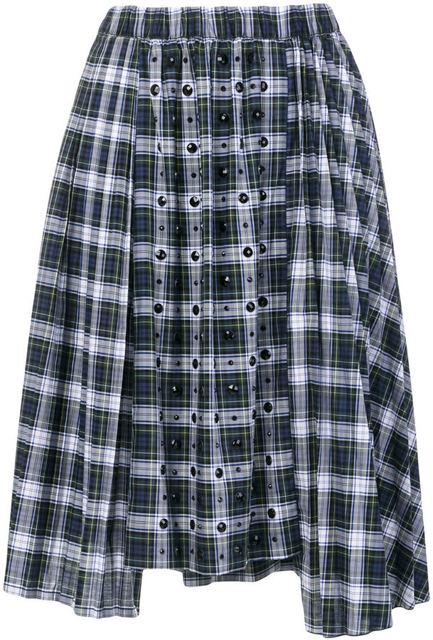 6ec815ced2 No.21 No21 Embellished Tartan Skirt, $670 | farfetch.com | Lookastic.com