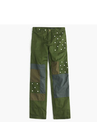 Petite embroidered boyfriend chino pant with patches medium 5171590