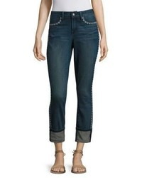 NYDJ Embroidered Trim Jeans