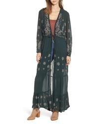 NEW FRIENDS COLONY La Cienega Embroidered Kimono