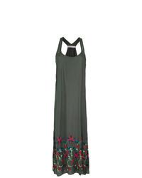 6fa4f78930 Dark Green Embroidered Maxi Dresses for Women