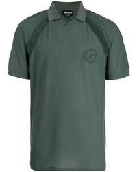 Giorgio Armani Logo Embroidered Polo Shirt