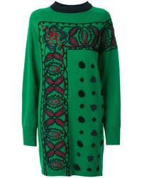 Sacai Embroidered Sweater Dress