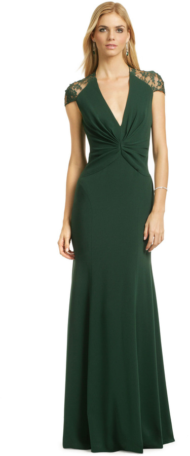 Reem Acra Jade Serenity Gown   Where to buy & how to wear