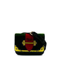 Prada Multicoloured Trompe Lil Small Velvet Belt Bag