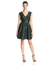 Dark Green Fit and Flare Dress