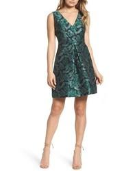 Sam Edelman Palm Jacquard A Line Dress