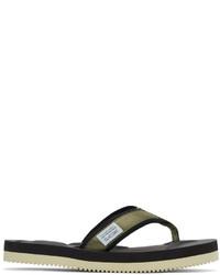 Suicoke Green Tono V2 Flip Flop Sandals