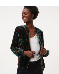 Floral velvet bomber jacket medium 6376173
