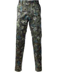 Valentino Floral Slim Fit Trousers