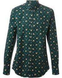 Dolce gabbana floral print shirt medium 85815