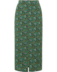 Floral split front midi skirt medium 434437
