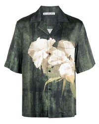 Acne Studios Floral Print Short Sleeve Shirt