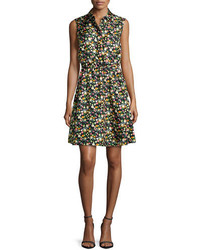 Tory Burch Ryder Floral Print Silk Shirtdress Vilette