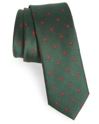 The Tie Bar Floral Span Medallion Silk Tie