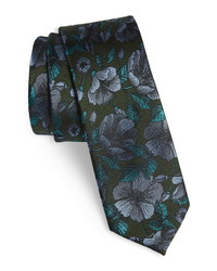 The Tie Bar Monarch Floral Silk Tie