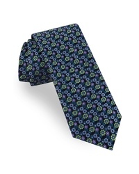 Dark Green Floral Tie