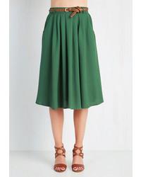 Dark Green Full Skirt