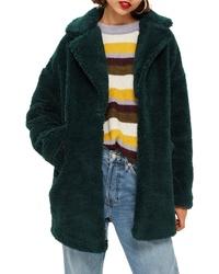online store 1cdc8 2d63d Women's Dark Green Fur Coats by Topshop | Women's Fashion ...