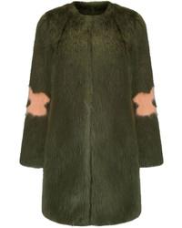 Shrimps Olive Faux Fur Kylie Coat